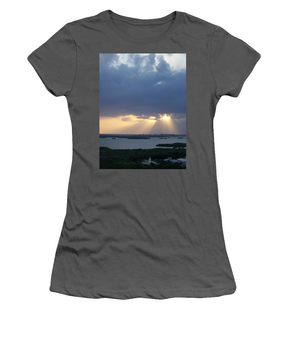 Sunset Women's T-Shirt (Athletic Fit) featuring the photograph Sunset 0048 by Laurie Paci