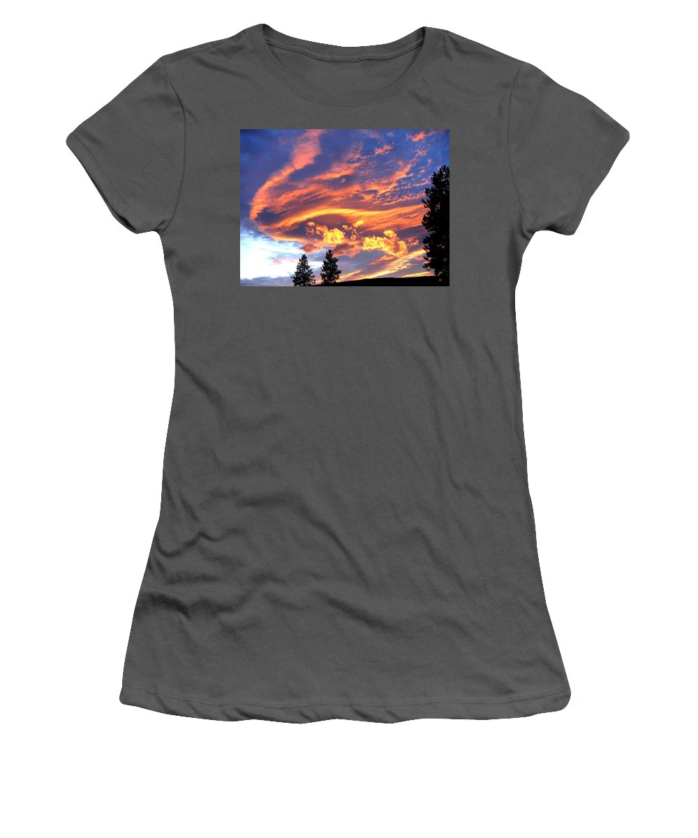 Sunset Women's T-Shirt (Athletic Fit) featuring the photograph Sunset Extravaganza by Will Borden