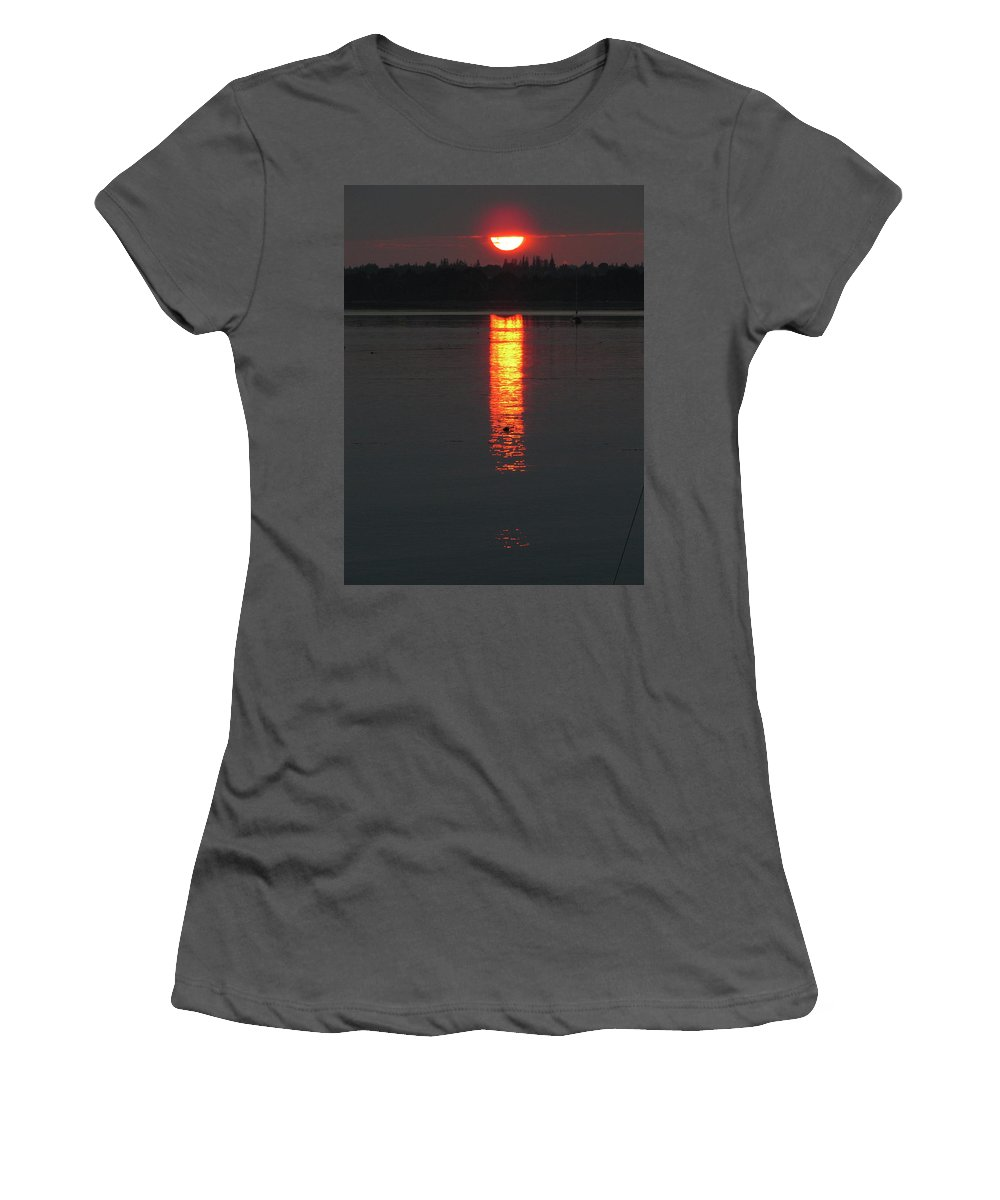 Sunset Women's T-Shirt (Athletic Fit) featuring the photograph Sunset On Friendship by Kelly Mezzapelle