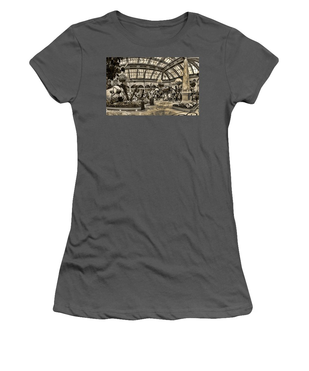 Floral Women's T-Shirt (Athletic Fit) featuring the photograph Surreal Gardens by Ricky Barnard