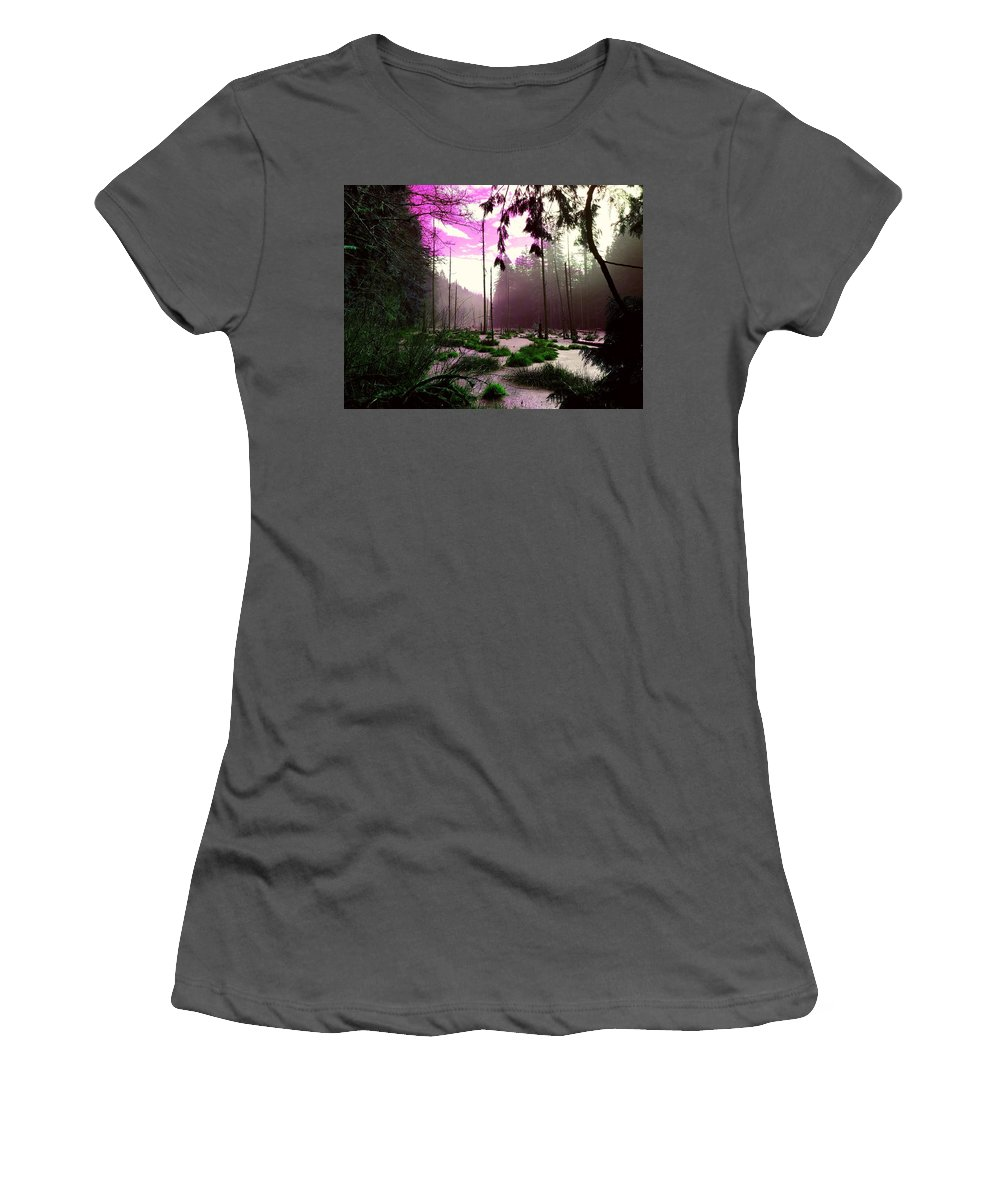 Swamp Women's T-Shirt (Athletic Fit) featuring the photograph Swamp by Ca Photography