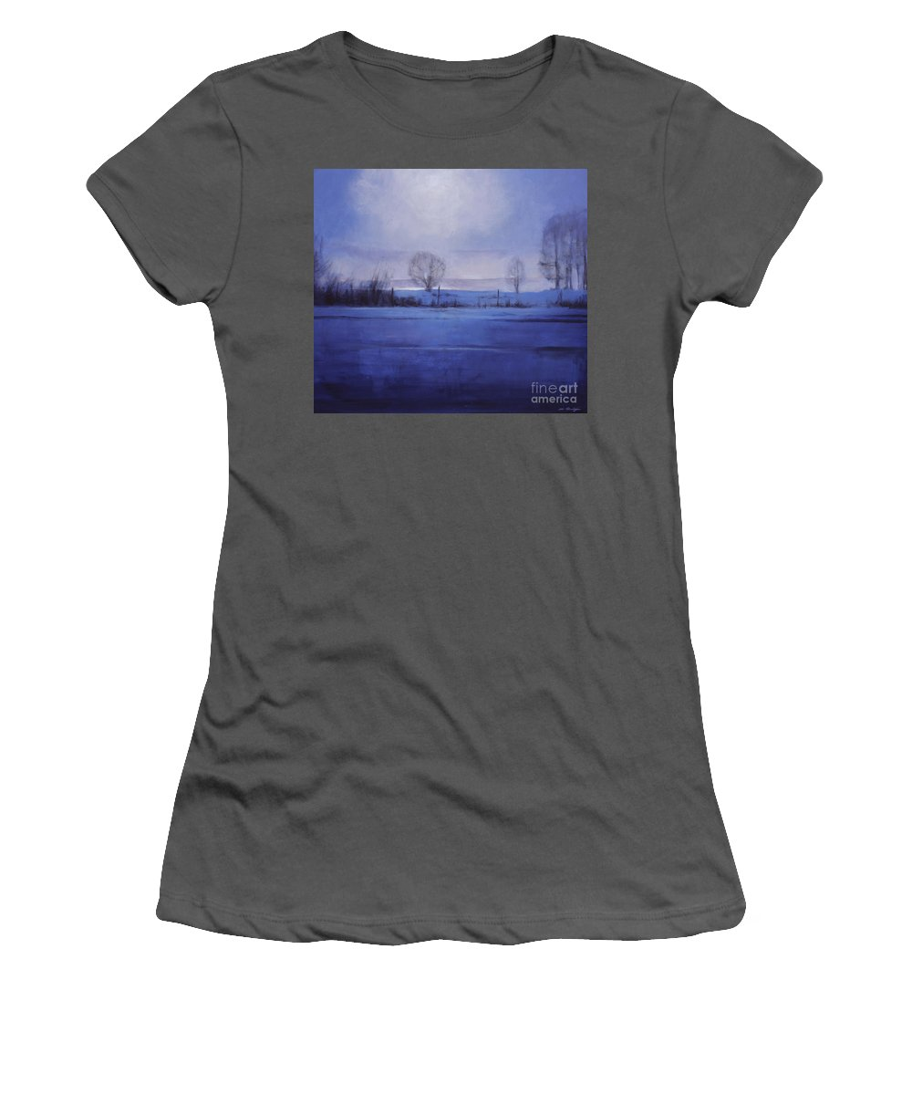 Lin Petershagen Women's T-Shirt (Athletic Fit) featuring the painting Sweet Dreams by Lin Petershagen