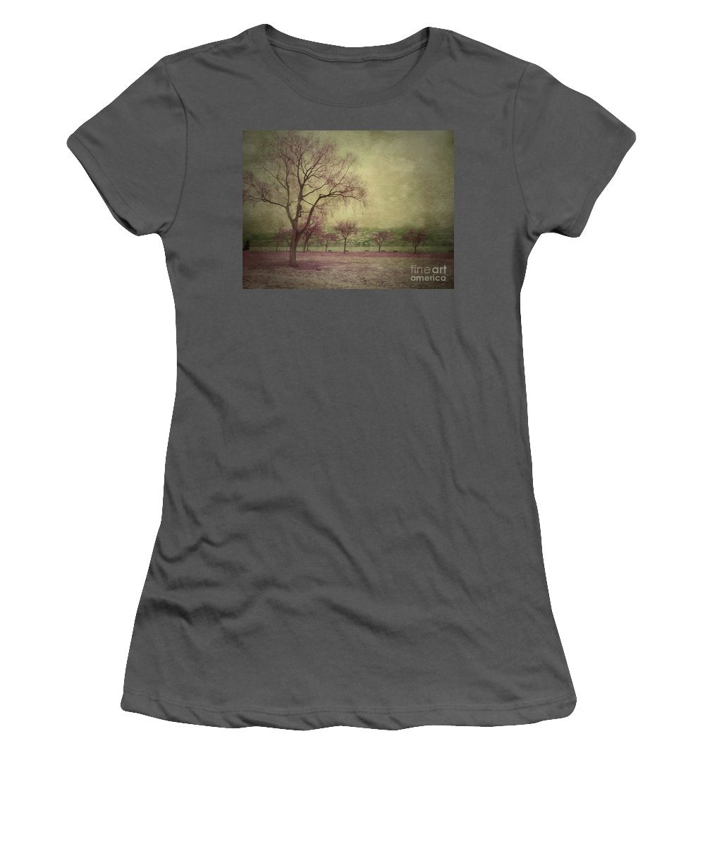 Trees Women's T-Shirt (Athletic Fit) featuring the photograph Sweetly by Tara Turner