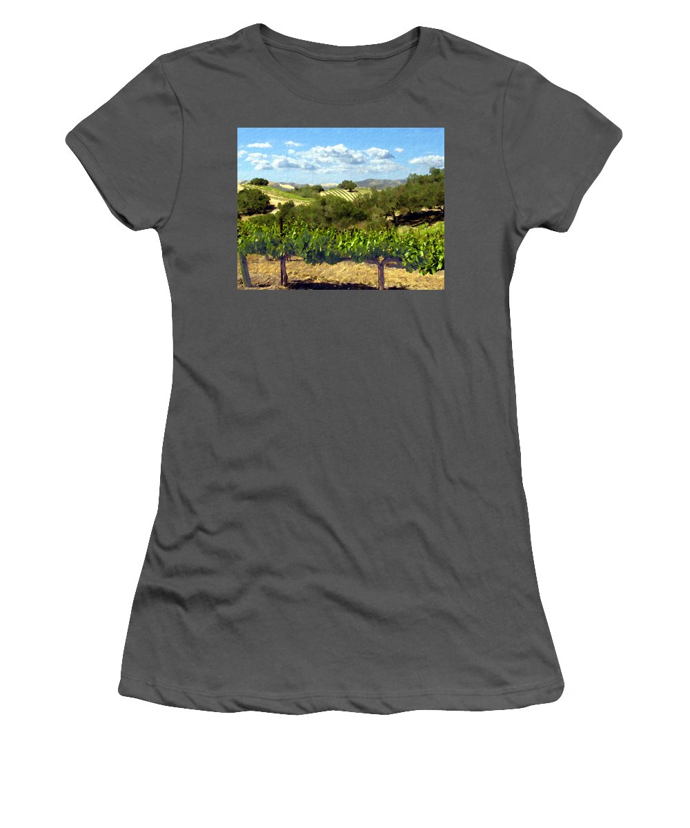 Vineyards Women's T-Shirt (Athletic Fit) featuring the photograph Syrah For Miles by Kurt Van Wagner
