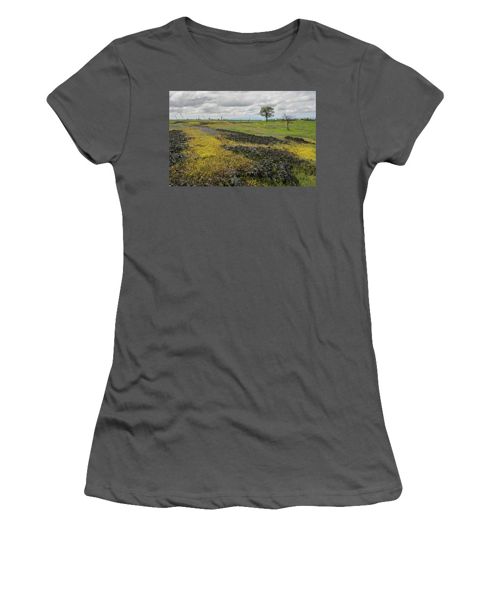 Table Mountain Women's T-Shirt (Athletic Fit) featuring the photograph Table Mountain Landscape by Barbara Matthews