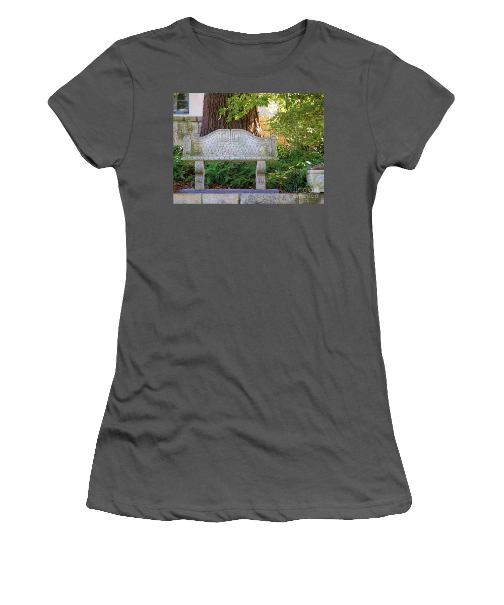 Bench Women's T-Shirt (Athletic Fit) featuring the photograph Take A Break by Debbi Granruth