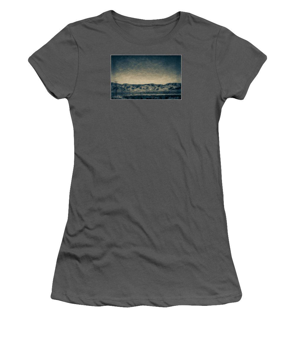 5 Freeway Women's T-Shirt (Athletic Fit) featuring the photograph Taking The 5 Through Bakersfield, California by Vivian Frerichs