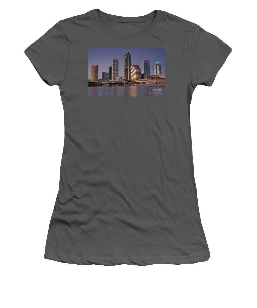 Tampa Florida Women's T-Shirt (Athletic Fit) featuring the photograph Tampa Florida by David Lee Thompson