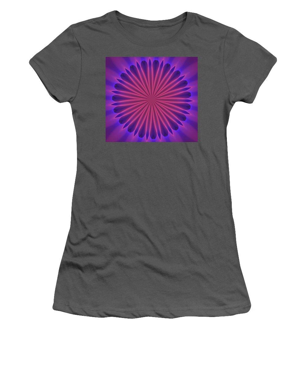 Fine Art Women's T-Shirt (Athletic Fit) featuring the digital art Ten Minute Art 102610 by David Lane