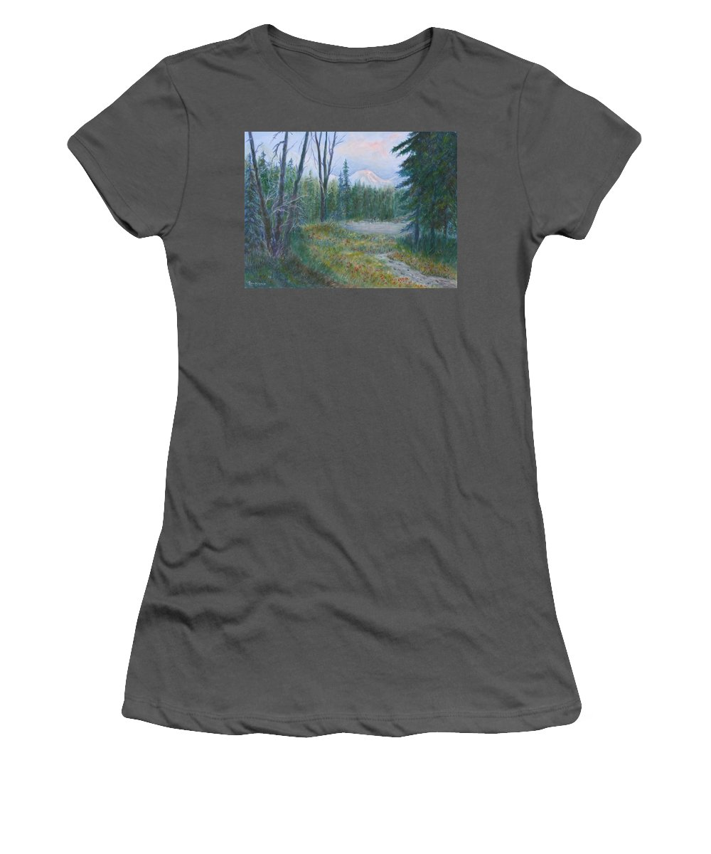 Landscape Women's T-Shirt (Athletic Fit) featuring the painting Teton Valley by Ben Kiger