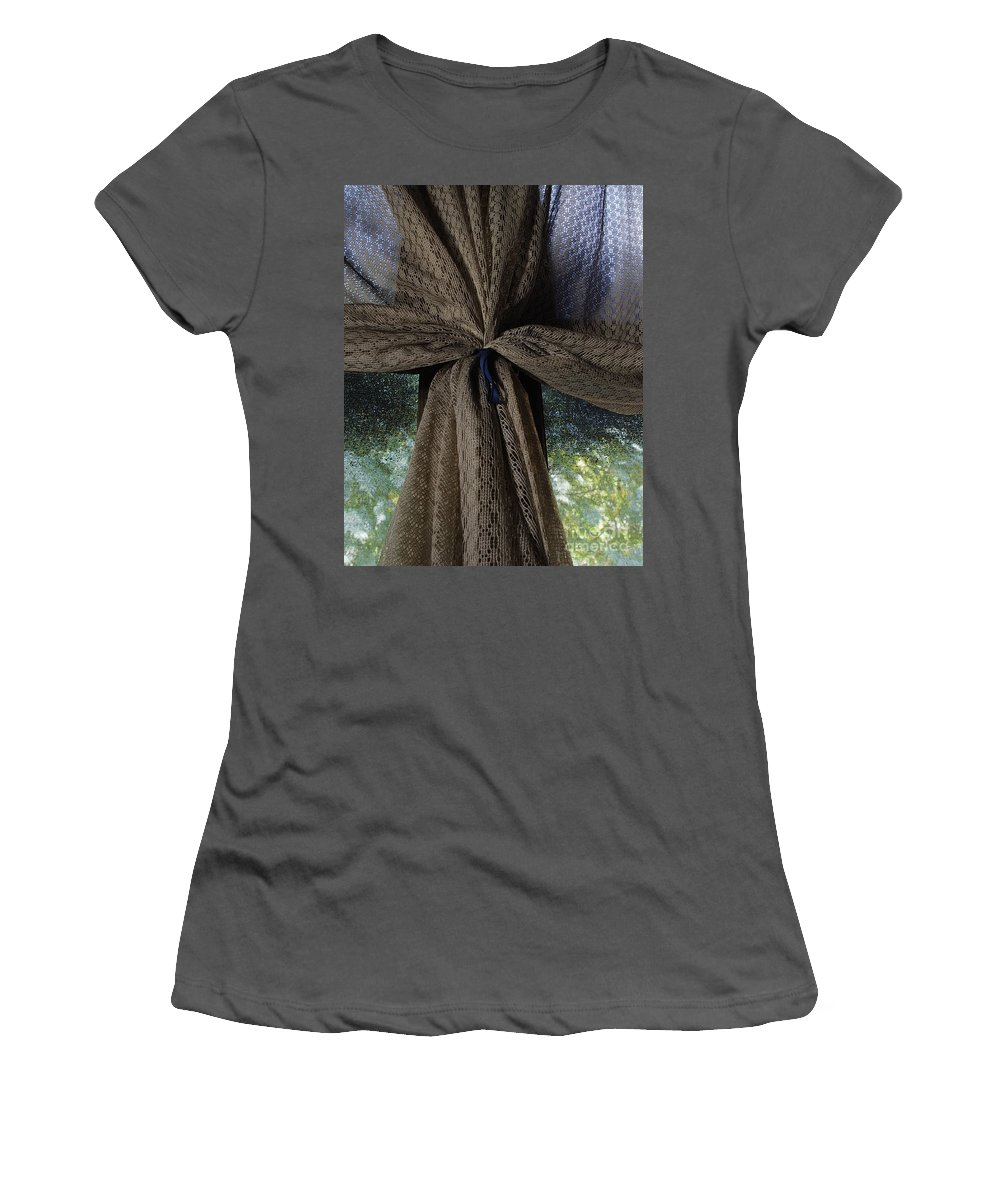 Texture Women's T-Shirt (Athletic Fit) featuring the photograph Texture And Lace by Peter Piatt