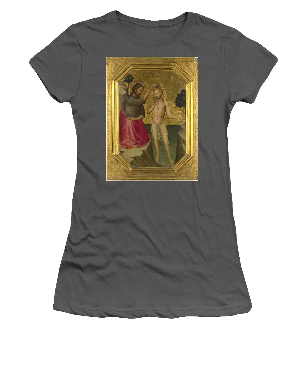 Lorenzo Women's T-Shirt (Athletic Fit) featuring the digital art The Baptism Of Christ by PixBreak Art