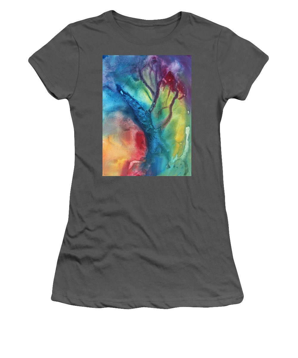 Painting Women's T-Shirt (Athletic Fit) featuring the painting The Beauty Of Color 3 by Megan Duncanson