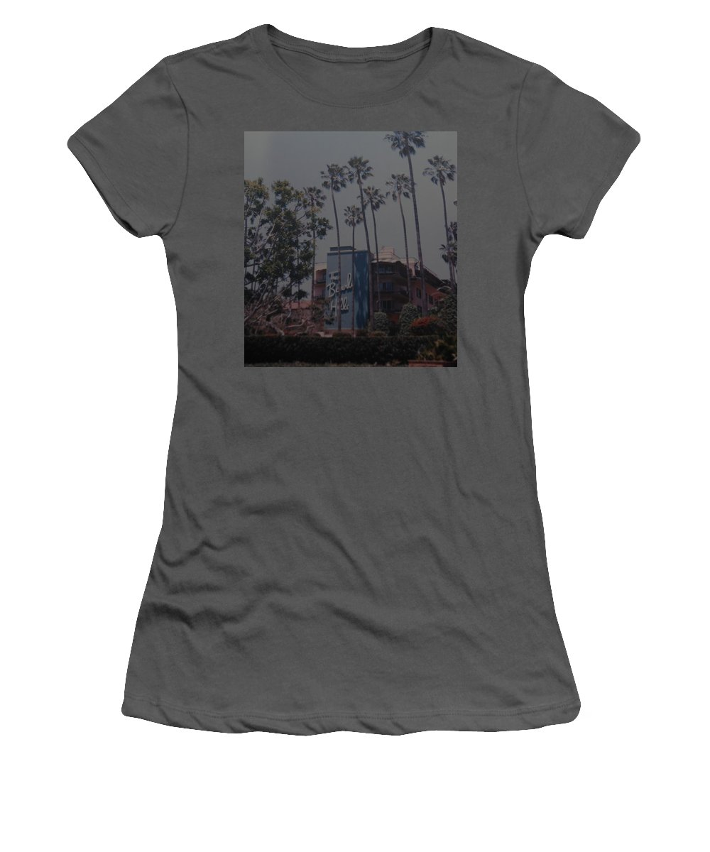 Beverly Hills Women's T-Shirt (Athletic Fit) featuring the photograph The Beverly Hills Hotel by Rob Hans