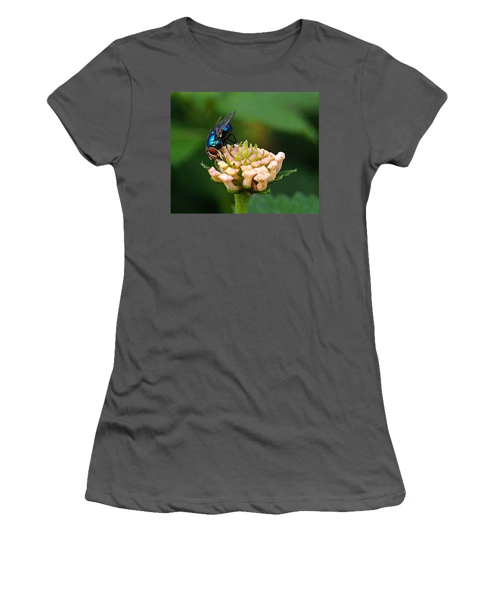 Women's T-Shirt (Athletic Fit) featuring the photograph The Blue Bug by Galeria Trompiz