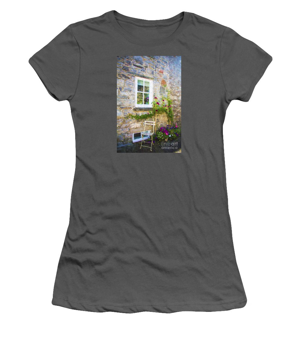 Chair Women's T-Shirt (Athletic Fit) featuring the photograph The Chair by Sheila Smart Fine Art Photography