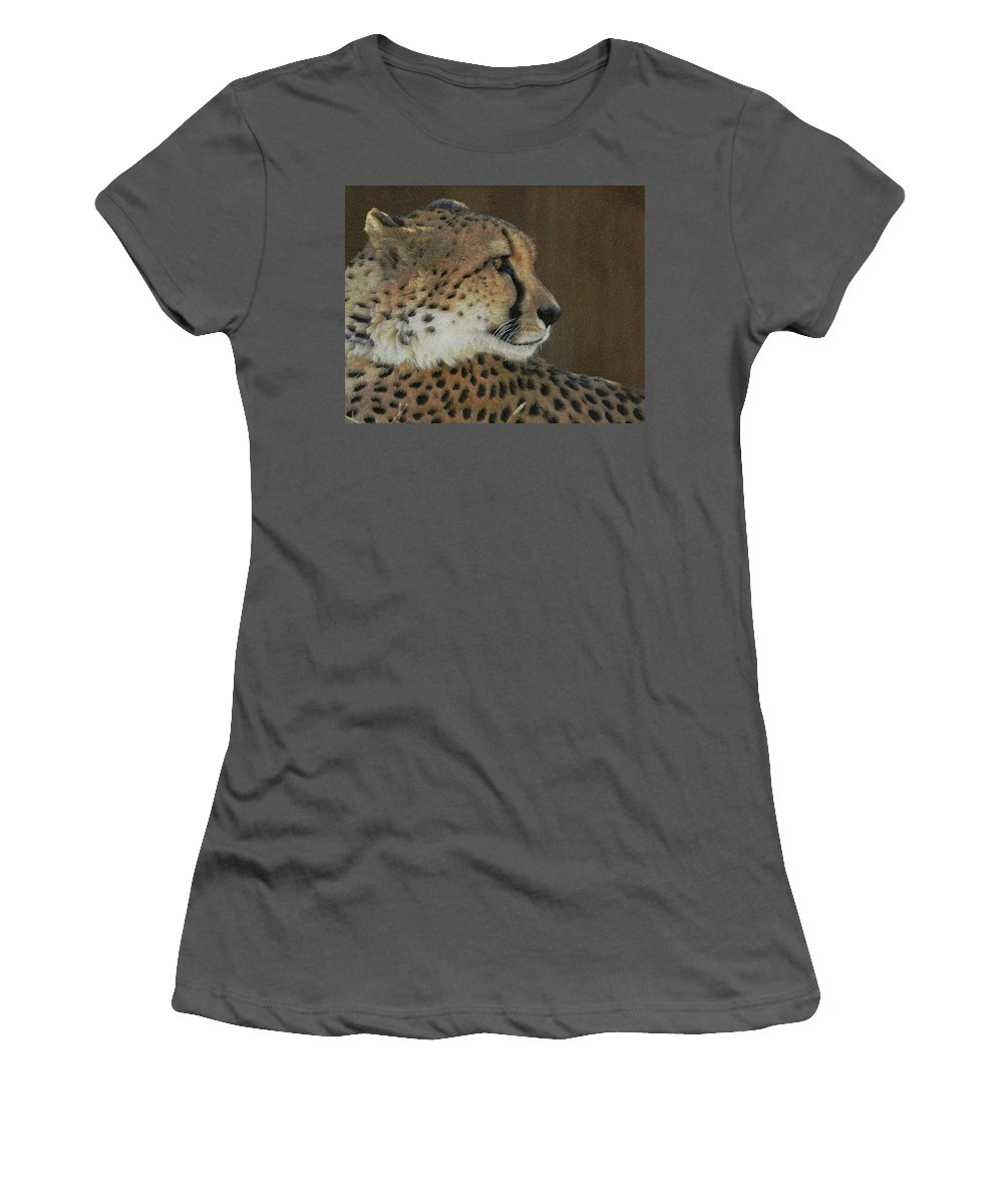 Animal Women's T-Shirt (Athletic Fit) featuring the photograph The Cheetah 2 by Ernie Echols