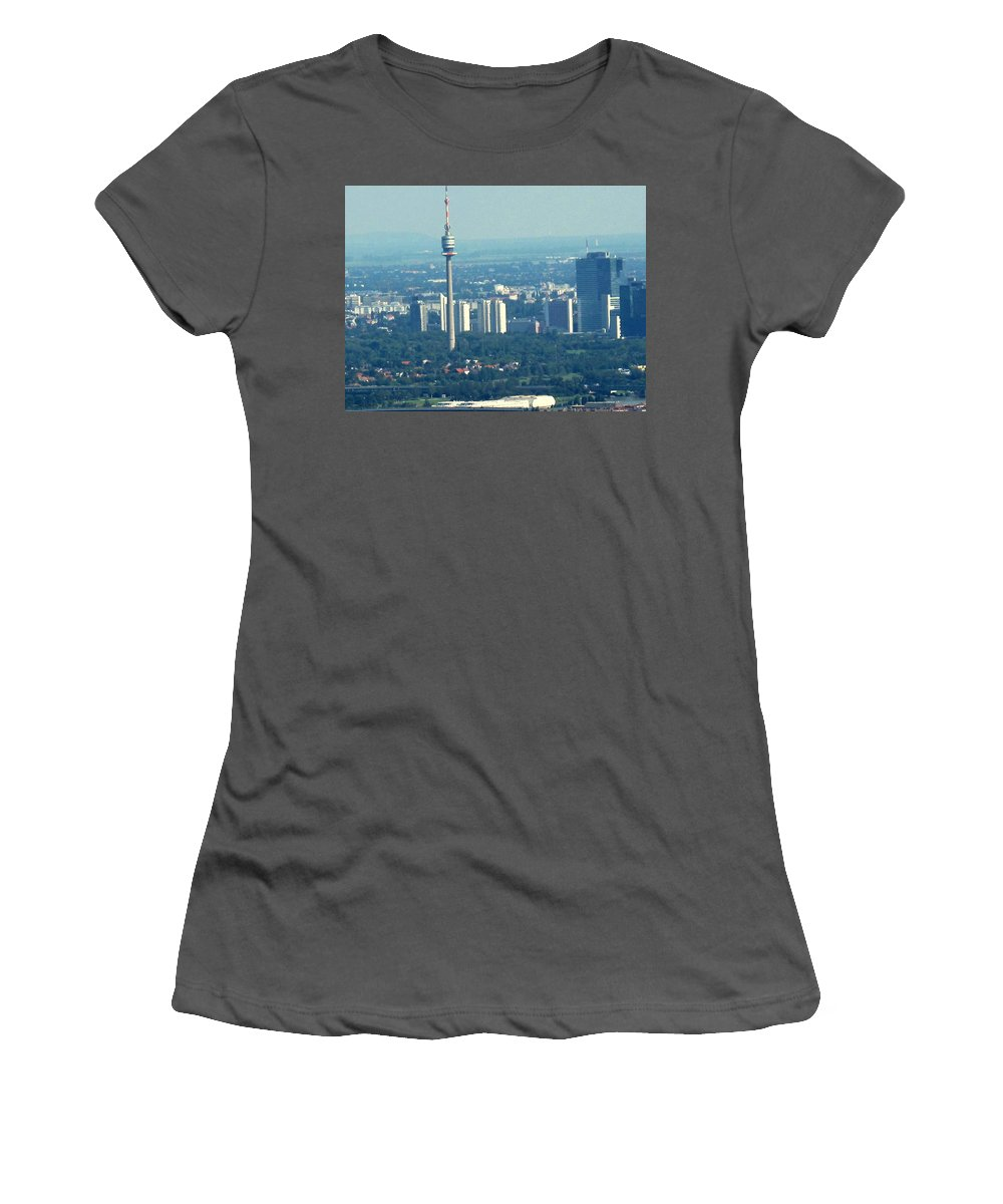 Austria Women's T-Shirt (Athletic Fit) featuring the photograph The City Of Vienna Austria by Ian MacDonald