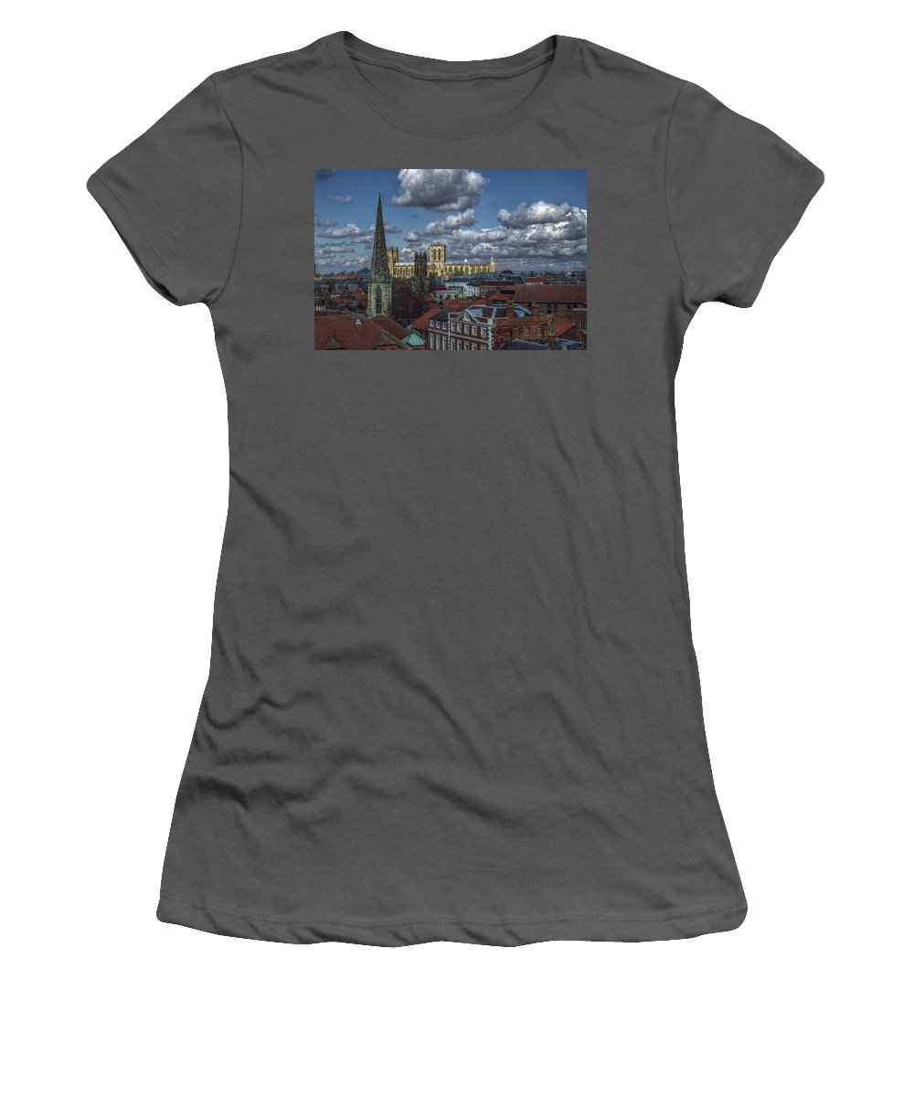 Architecture Women's T-Shirt (Athletic Fit) featuring the photograph The Clifford Tower View by Mark Hunter