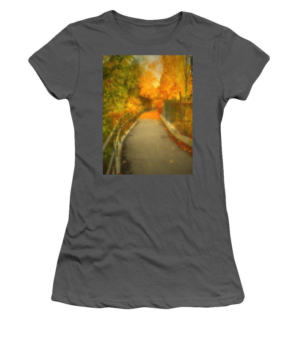 Colour Women's T-Shirt (Athletic Fit) featuring the photograph The Colour Around The Corner by Tara Turner