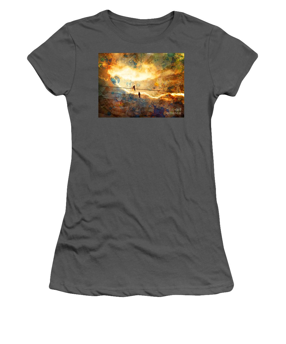 Texture Women's T-Shirt (Athletic Fit) featuring the photograph The Conversation by Tara Turner