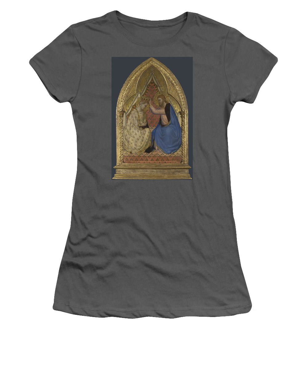 Bernardo Women's T-Shirt (Athletic Fit) featuring the digital art The Coronation Of The Virgin by PixBreak Art
