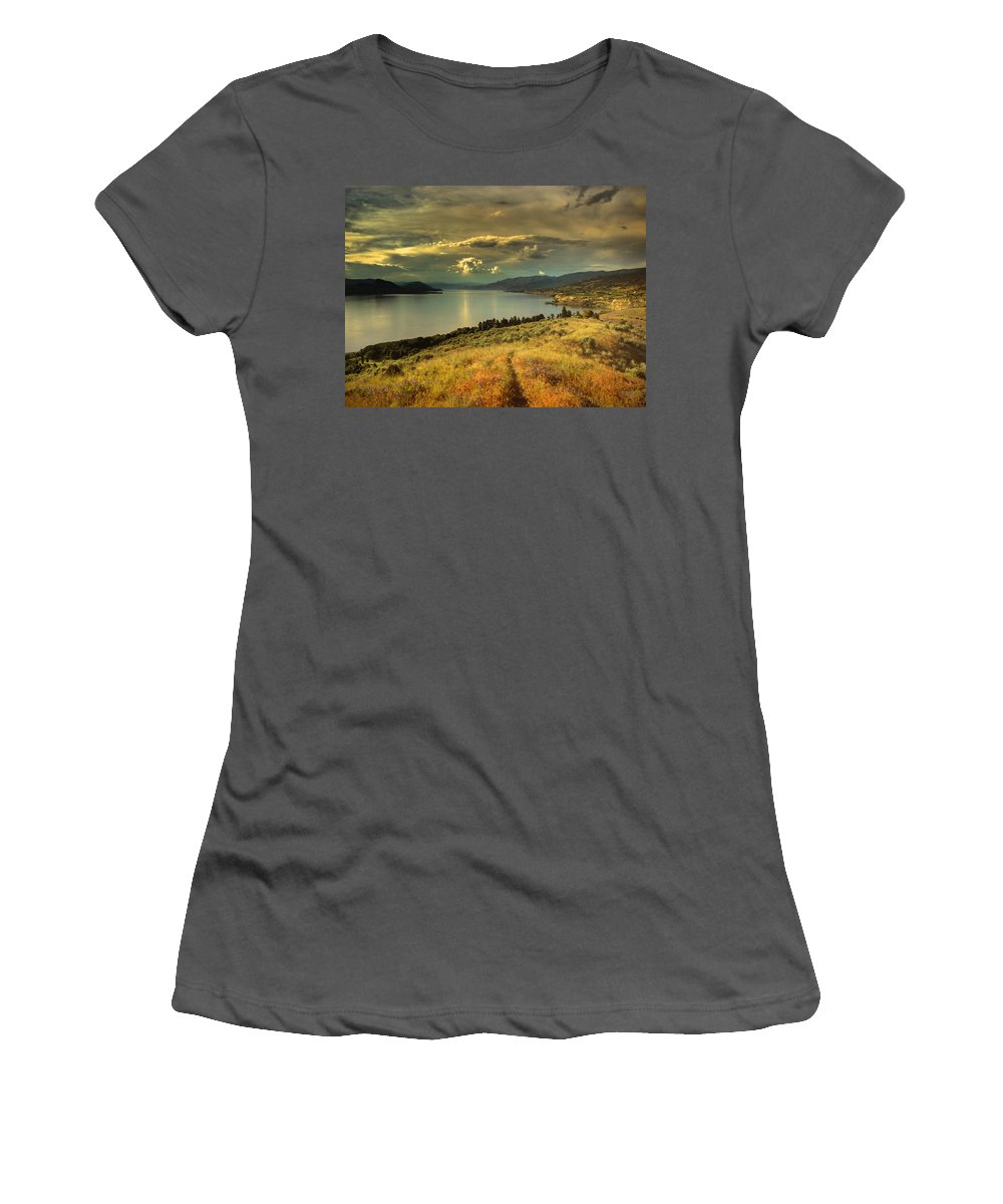 Lake Women's T-Shirt (Athletic Fit) featuring the photograph The Evening Calm by Tara Turner