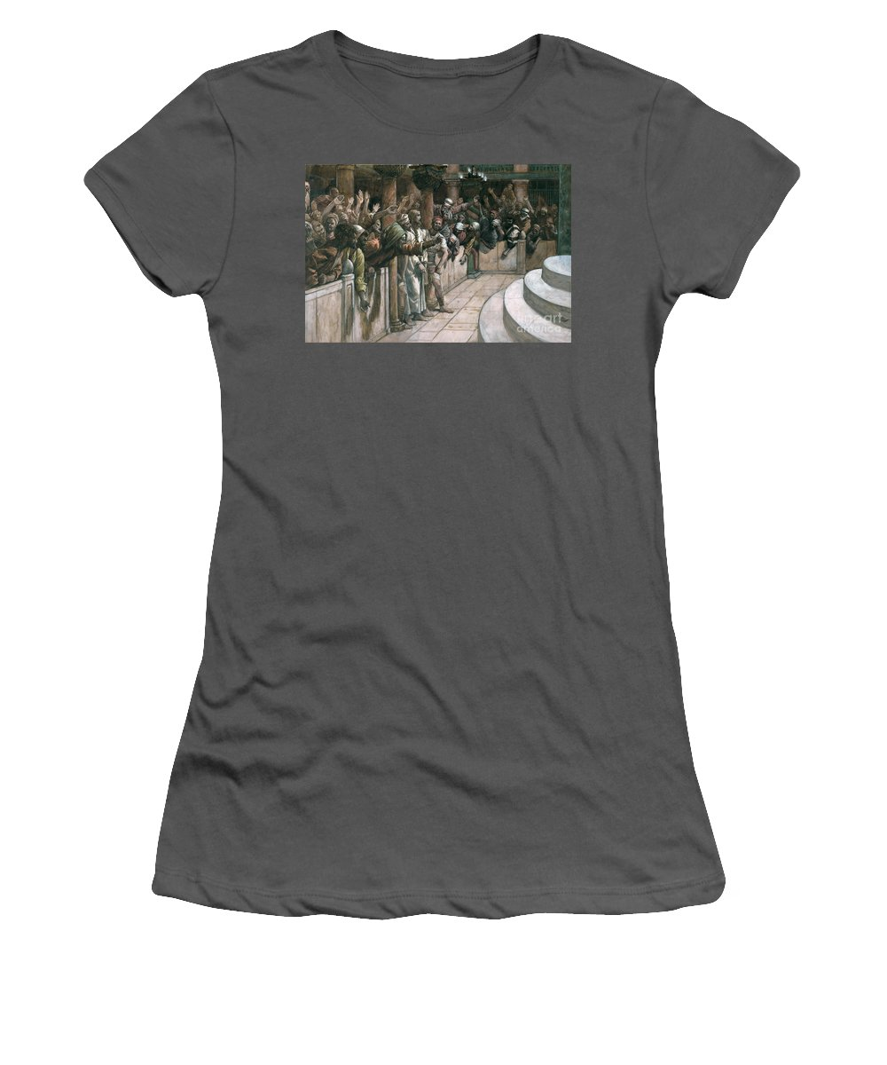 The Women's T-Shirt (Athletic Fit) featuring the painting The False Witness by Tissot