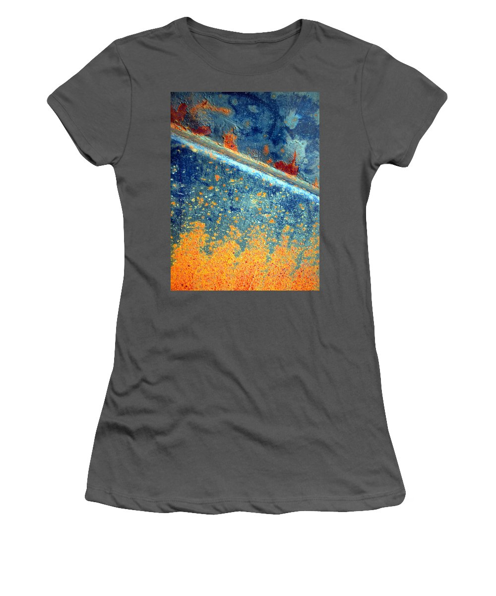 Texture Women's T-Shirt (Athletic Fit) featuring the photograph The Flames by Tara Turner