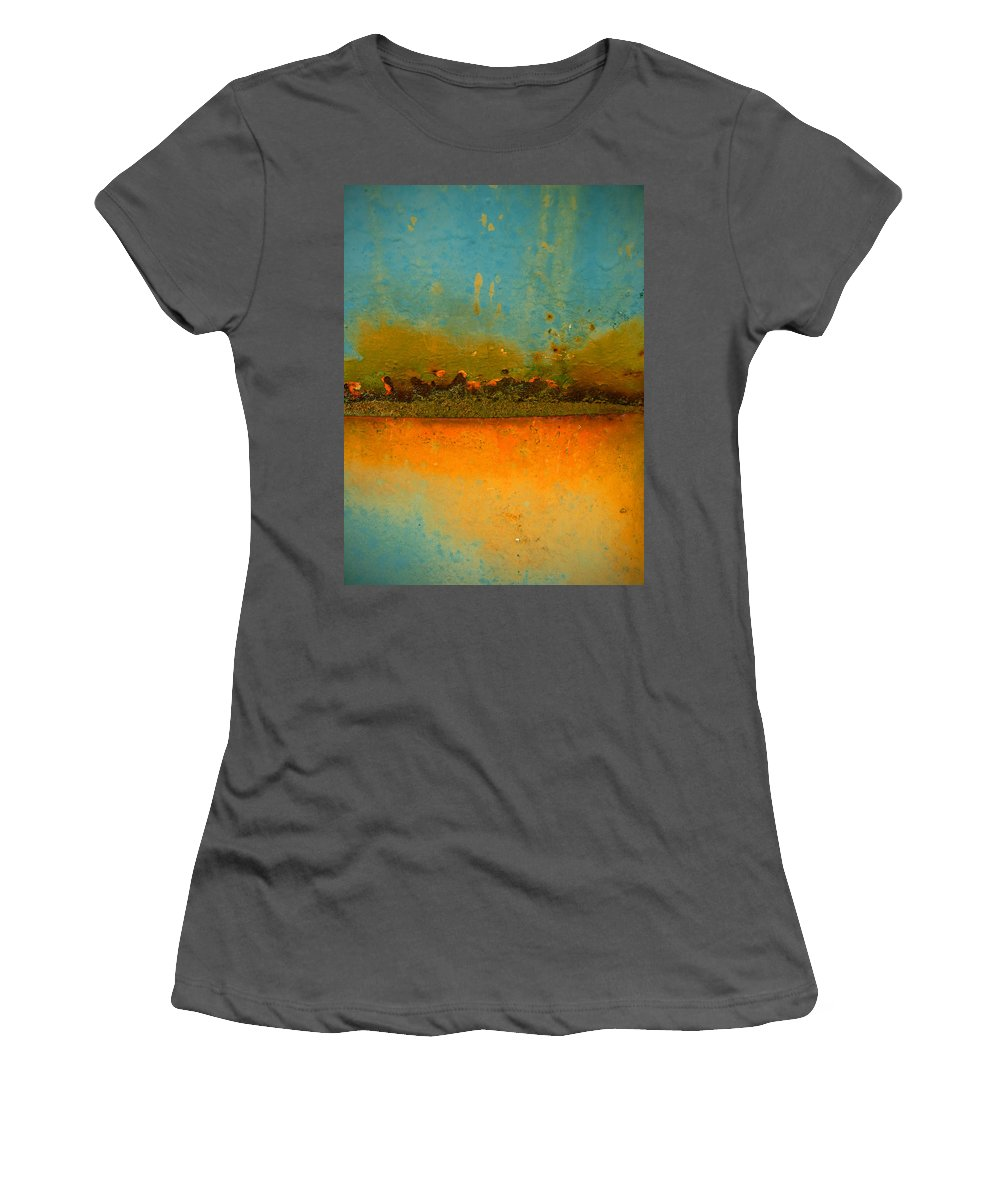 Urban Women's T-Shirt (Athletic Fit) featuring the photograph The Horizon by Tara Turner