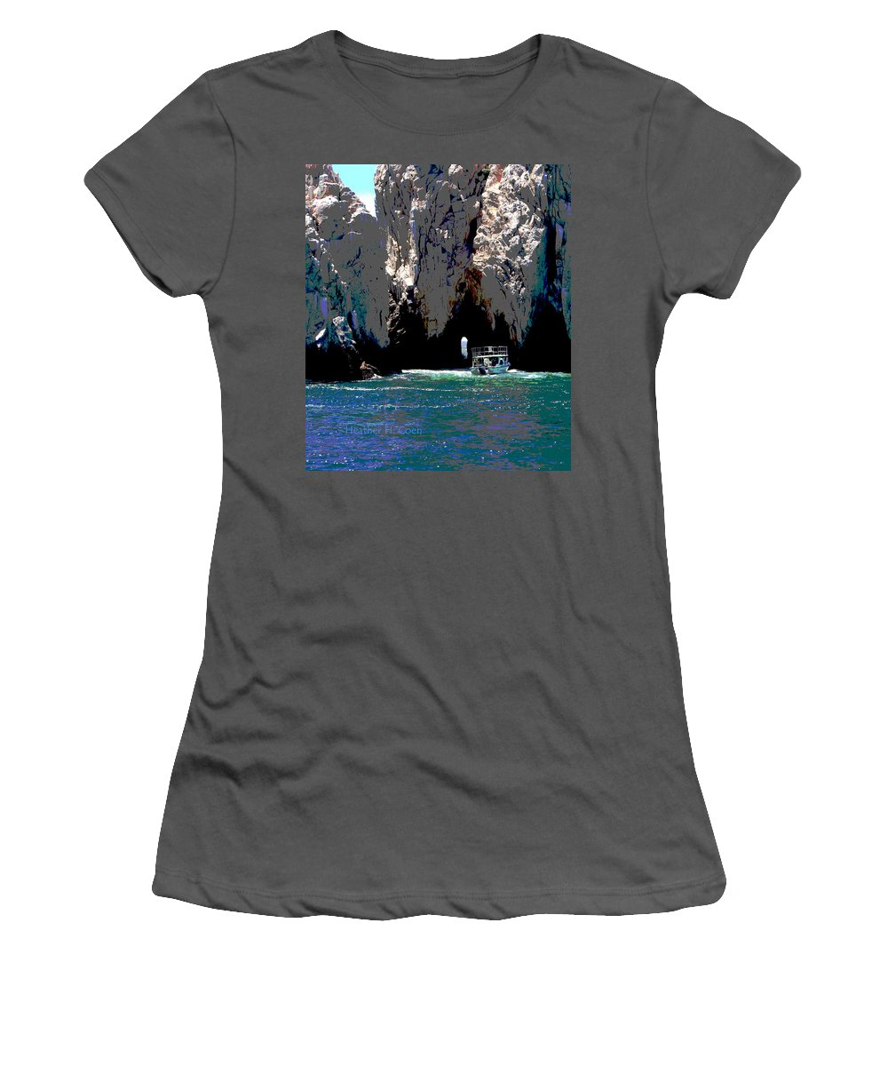 Mexico Women's T-Shirt (Athletic Fit) featuring the photograph The Keyhole Mexico Cabo San Lucas by Heather Coen