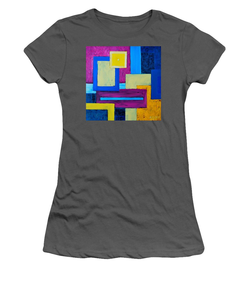 Abstract Women's T-Shirt (Athletic Fit) featuring the painting The Last Message by Ana Maria Edulescu