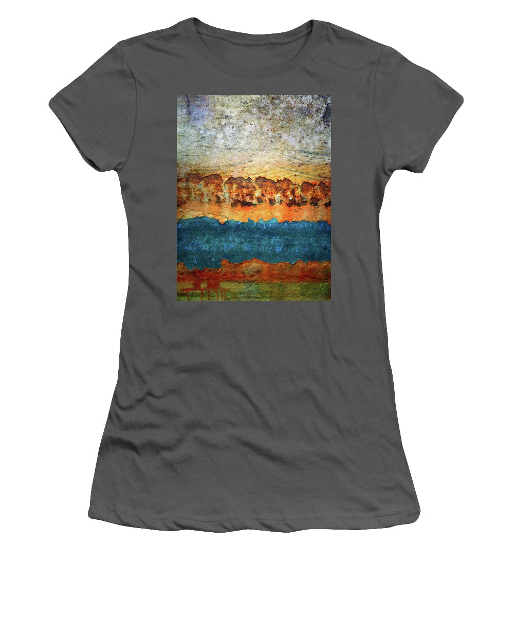 Urban Women's T-Shirt (Athletic Fit) featuring the photograph The Layers by Tara Turner