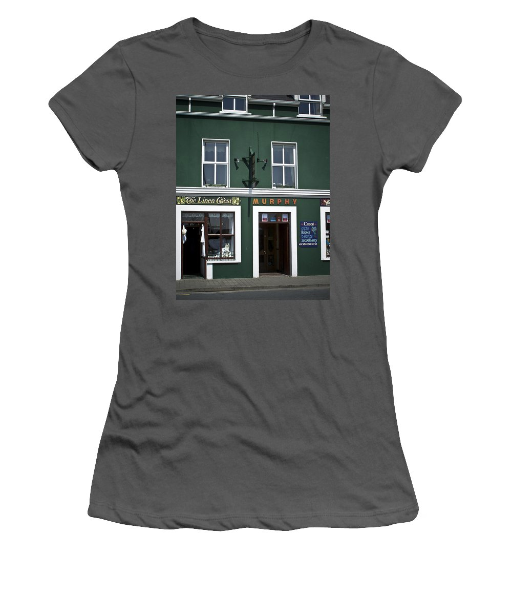 Irish Women's T-Shirt (Athletic Fit) featuring the photograph The Linen Chest Dingle Ireland by Teresa Mucha