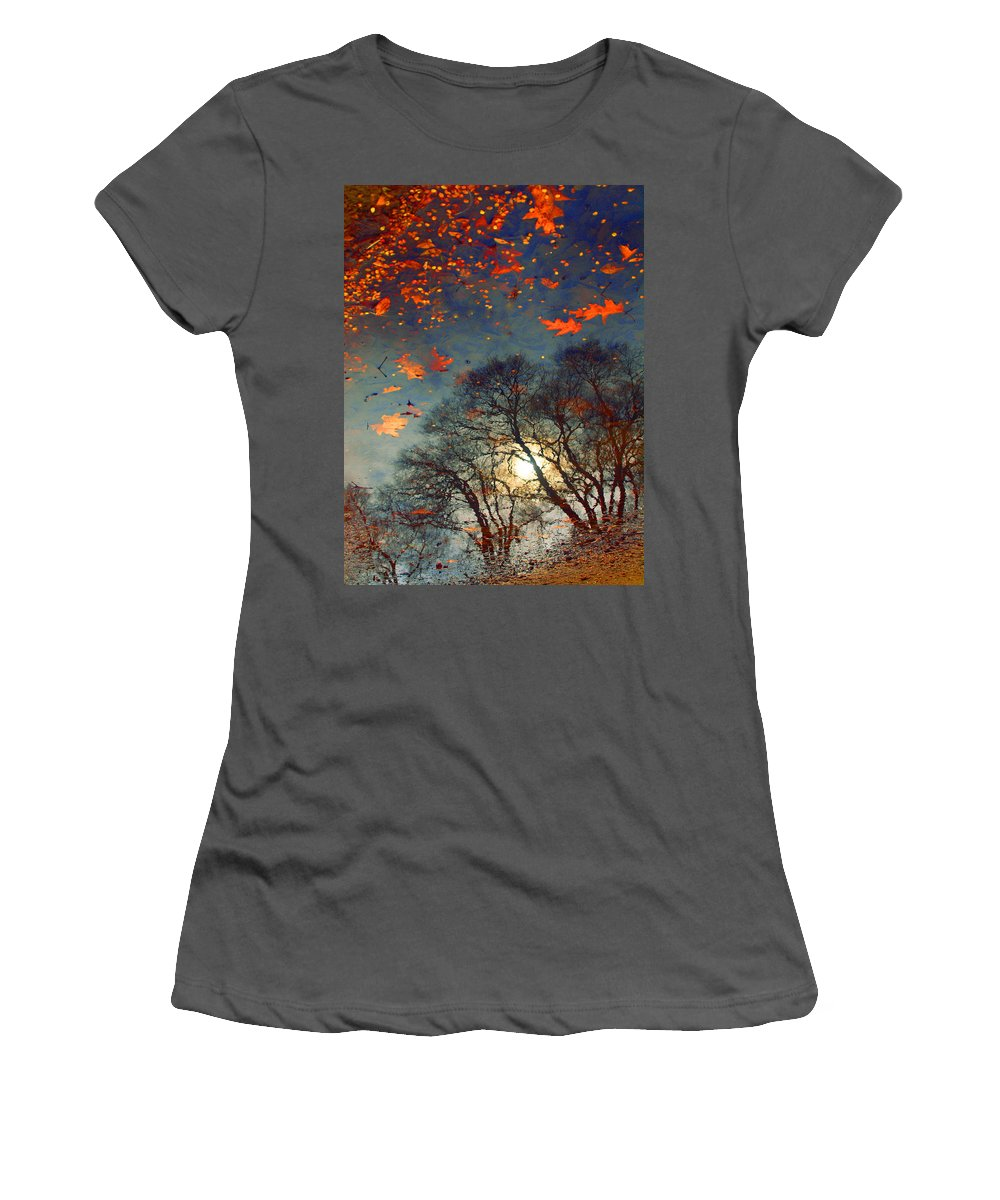Puddle Women's T-Shirt (Athletic Fit) featuring the photograph The Magic Puddle by Tara Turner