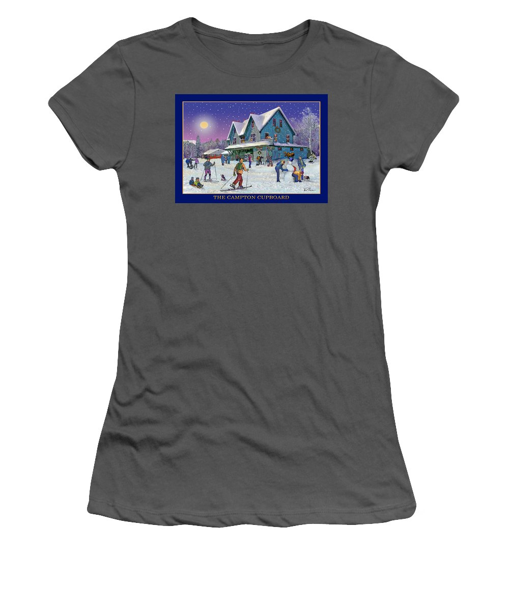 Winter Women's T-Shirt (Athletic Fit) featuring the photograph The Morning After At Campton New Hampshire by Nancy Griswold