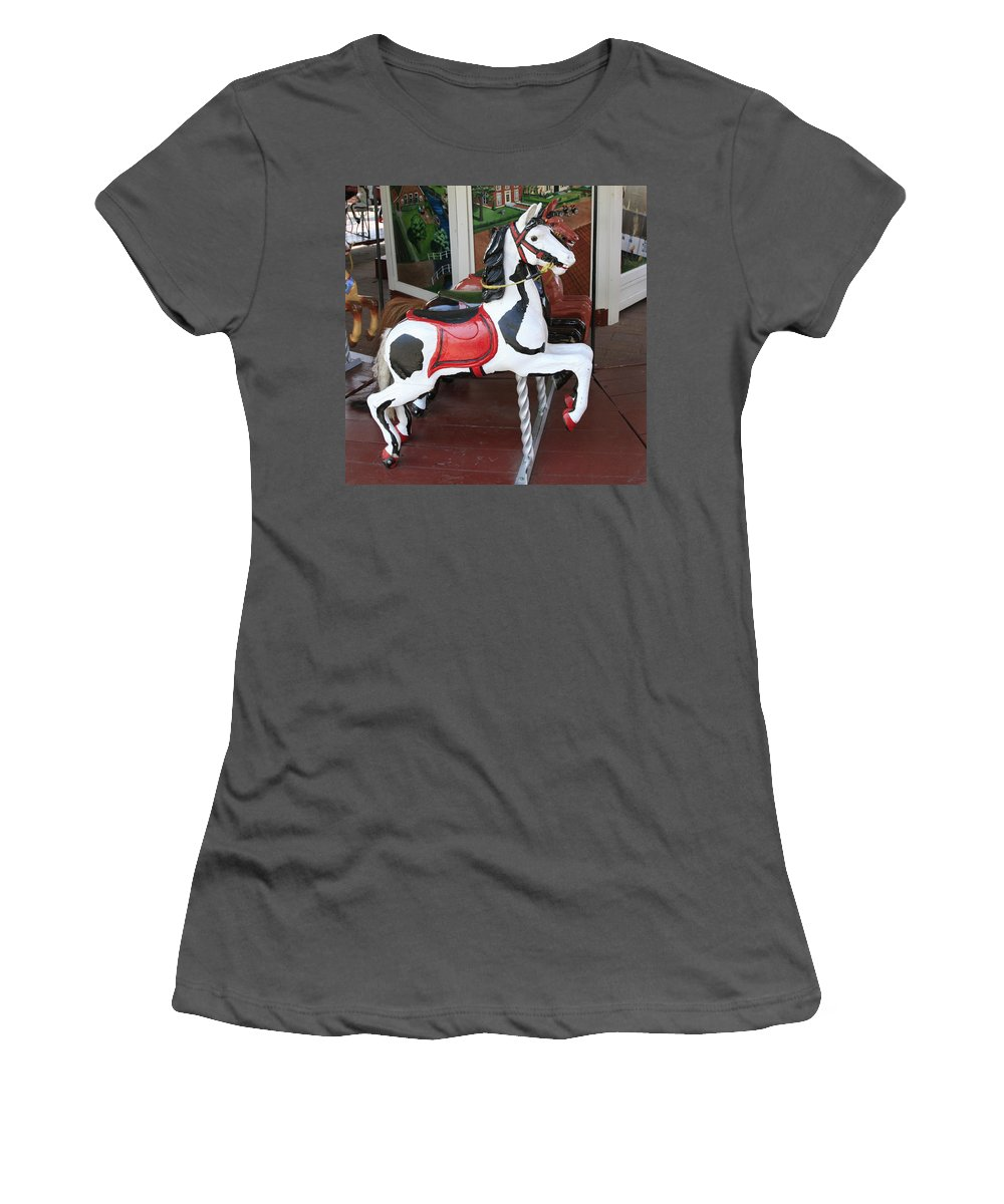 Horse Women's T-Shirt (Athletic Fit) featuring the photograph The Painted Horse by Robert Pearson