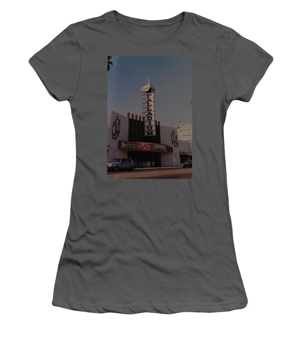 The Palladium Women's T-Shirt (Athletic Fit) featuring the photograph The Palladium by Rob Hans