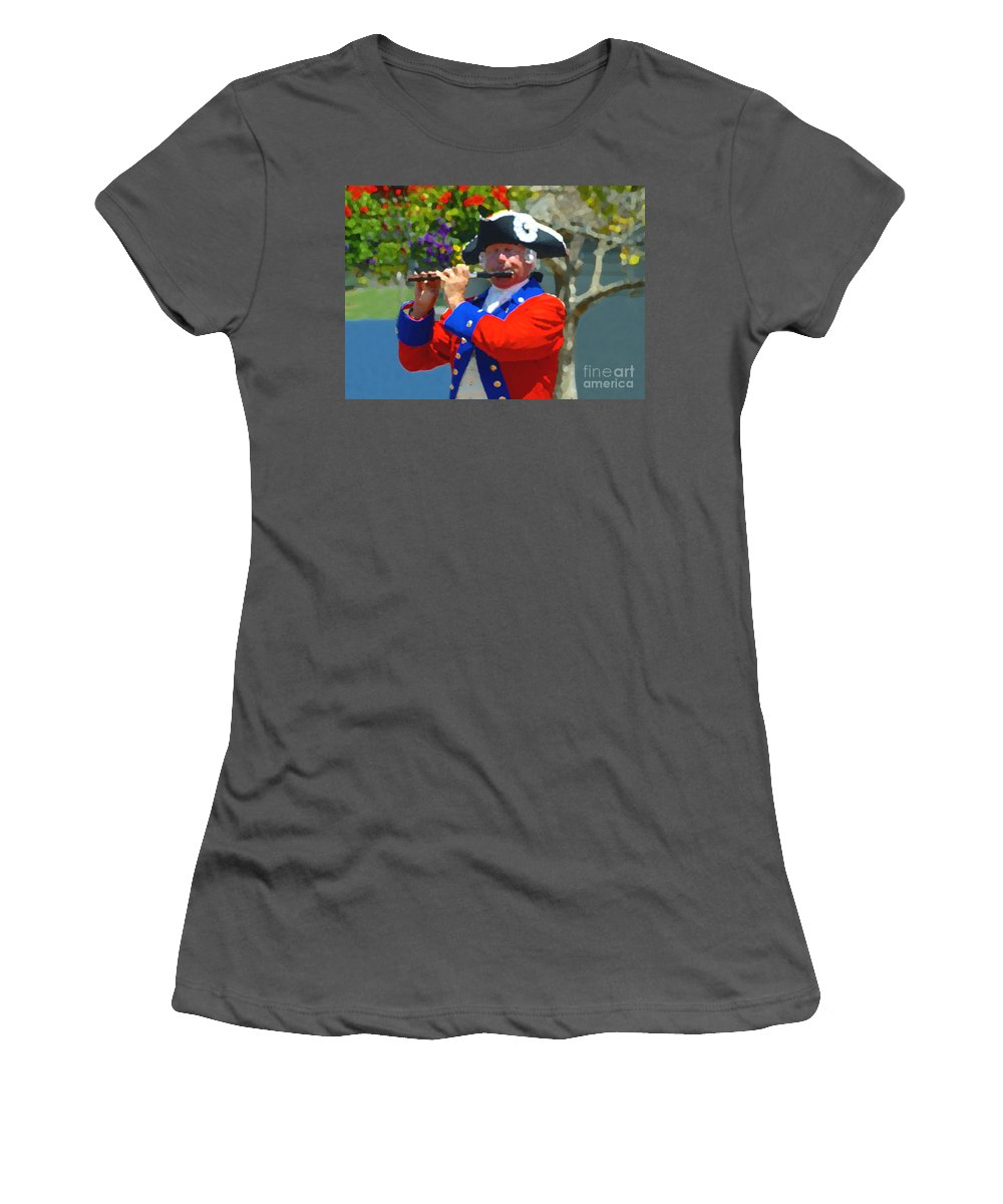 Patriot Women's T-Shirt (Athletic Fit) featuring the photograph The Patriot by David Lee Thompson