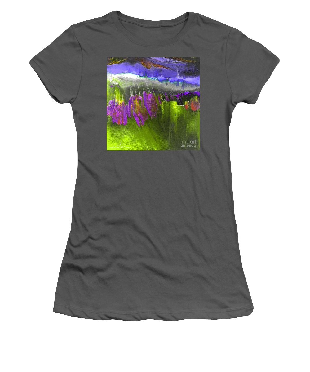 Dream Painting Women's T-Shirt (Athletic Fit) featuring the painting The Pink Army Taking Cordoba by Miki De Goodaboom