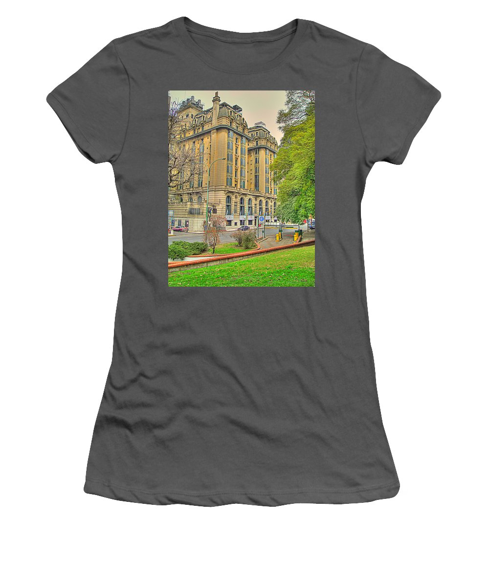 Hotel Women's T-Shirt (Athletic Fit) featuring the photograph The Plaza by Francisco Colon