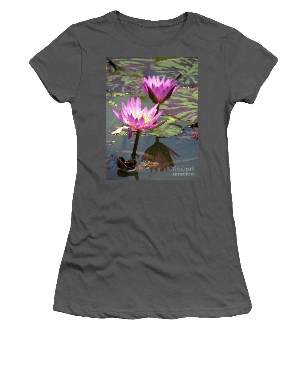 Lillypad Women's T-Shirt (Athletic Fit) featuring the photograph The Pond by Amanda Barcon