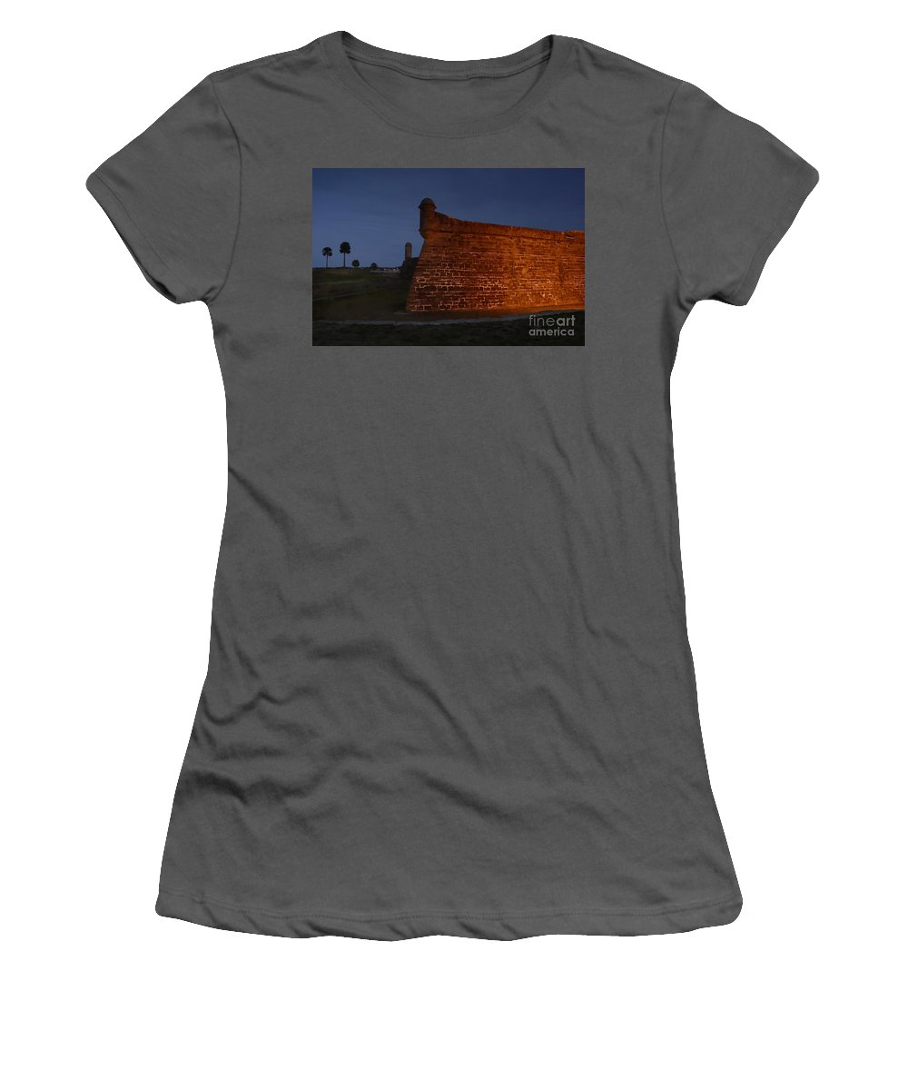 Castillo Women's T-Shirt (Athletic Fit) featuring the photograph The Red Castillo by David Lee Thompson
