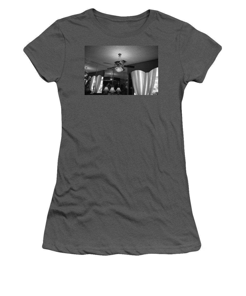 Black And White Women's T-Shirt (Athletic Fit) featuring the photograph The Room With Many Views by Rob Hans