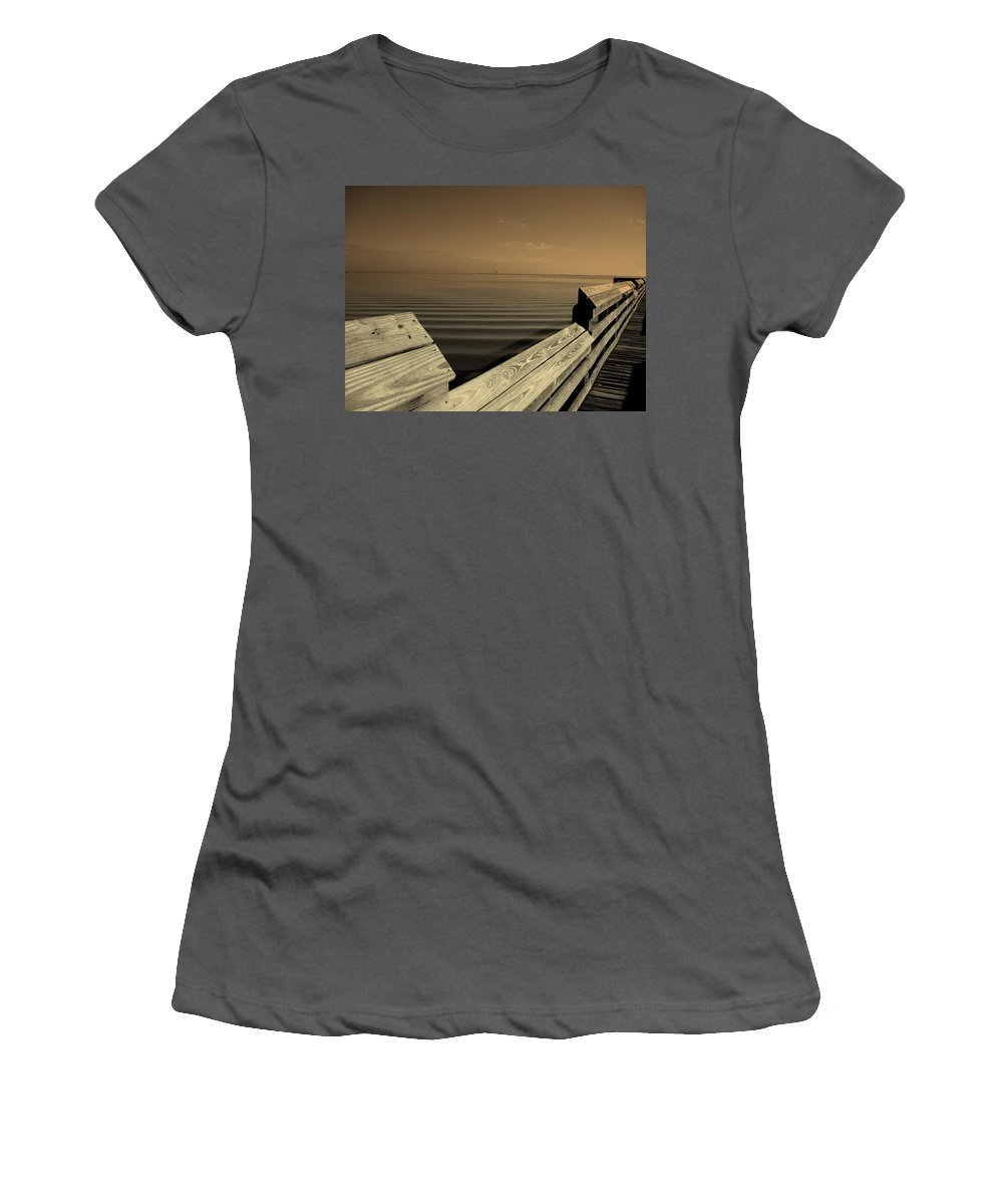 Pier Women's T-Shirt (Athletic Fit) featuring the photograph The Spot by Susanne Van Hulst
