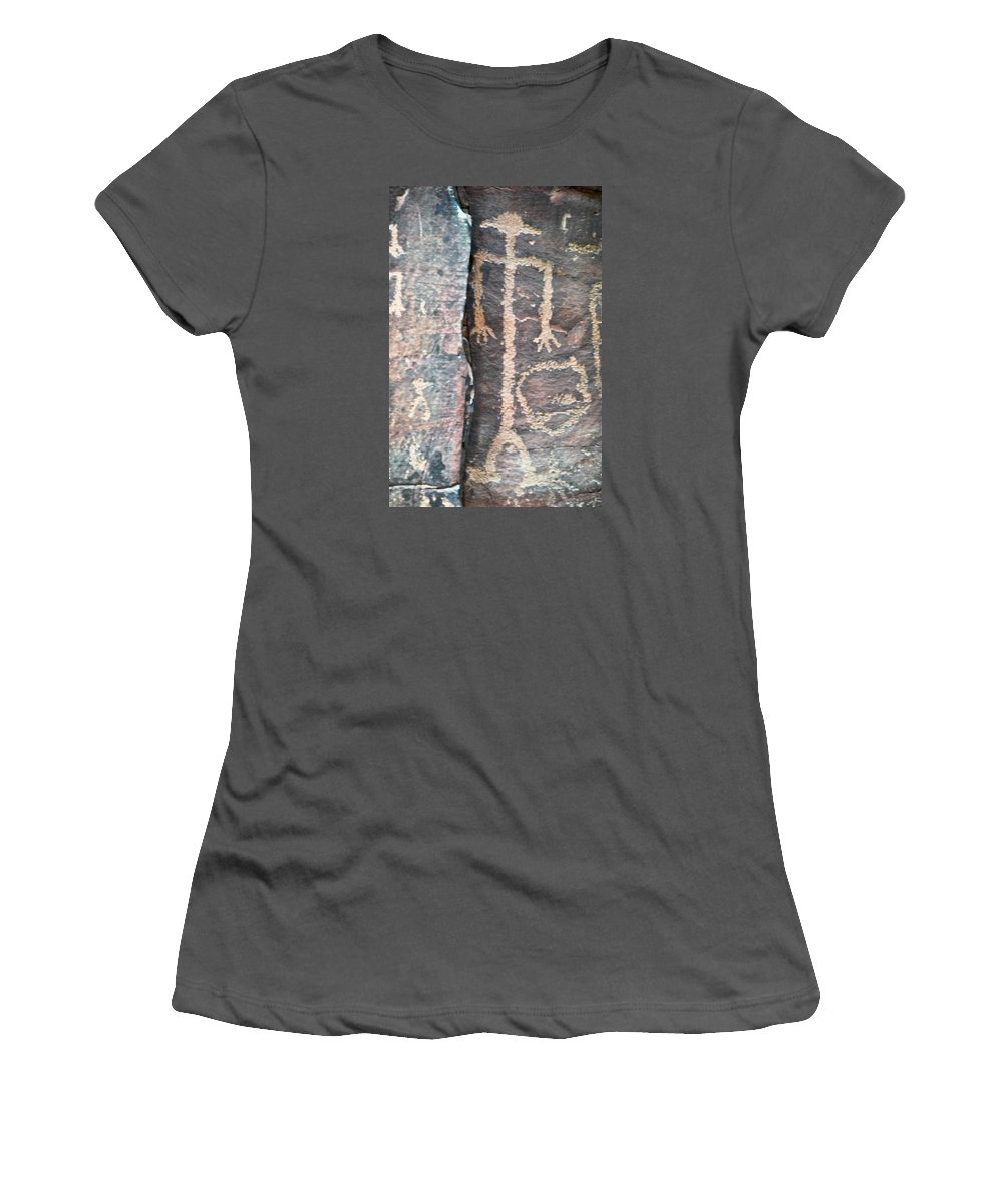 Native American Art Women's T-Shirt (Athletic Fit) featuring the photograph The Tall Thin Man by David Arment