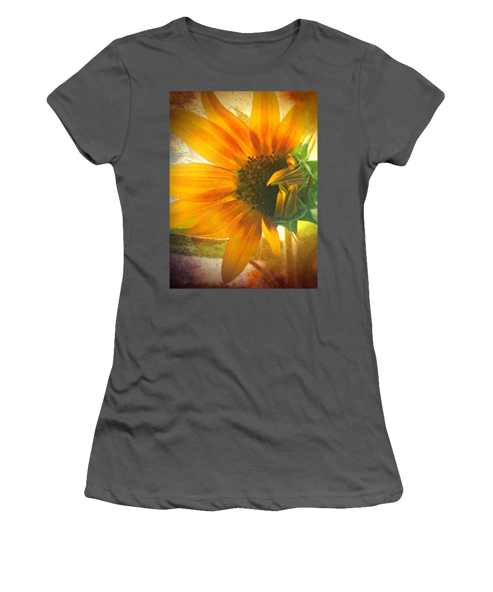 Sunflower Women's T-Shirt (Athletic Fit) featuring the photograph The Truth-teller by Tara Turner