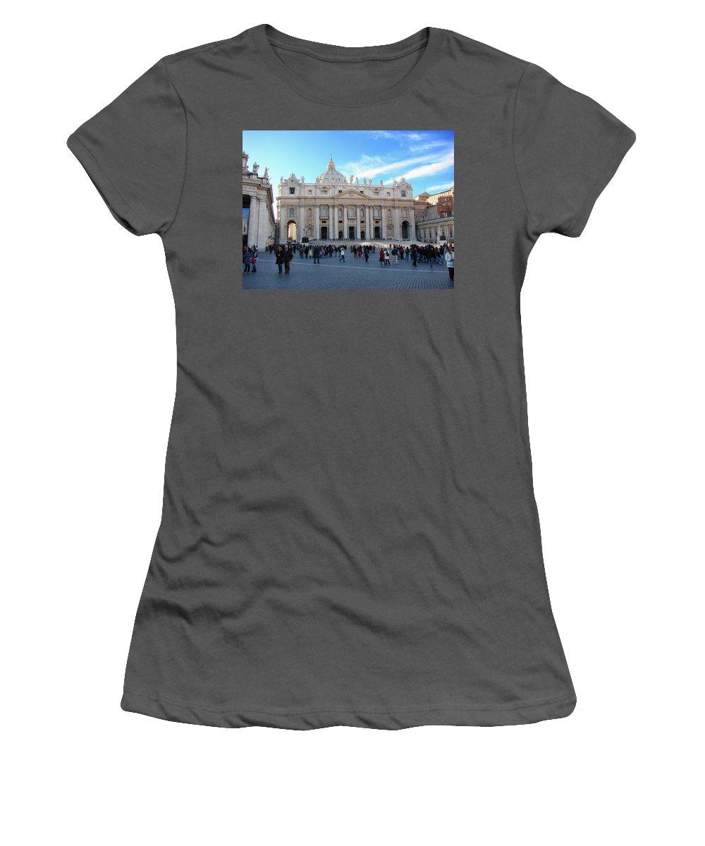 Vatican Women's T-Shirt (Athletic Fit) featuring the photograph The Vatican by Brett Winn