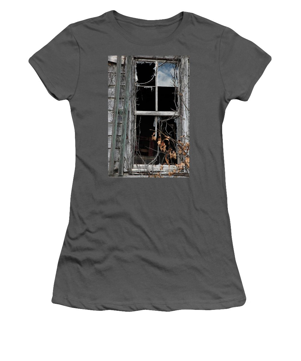 Windows Women's T-Shirt (Athletic Fit) featuring the photograph The Window by Amanda Barcon
