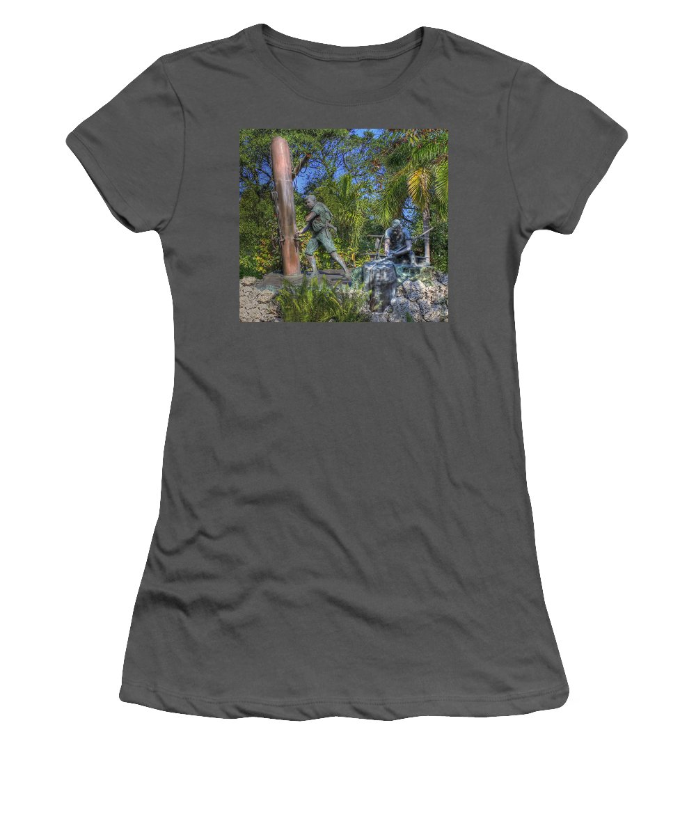 Key West Women's T-Shirt (Athletic Fit) featuring the photograph The Wreckers by Shelley Neff